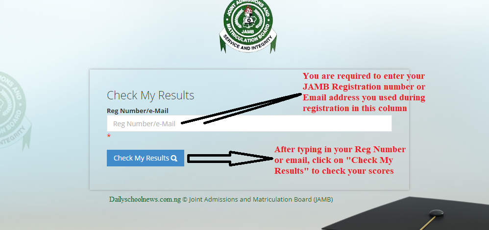 how to check Jamb result