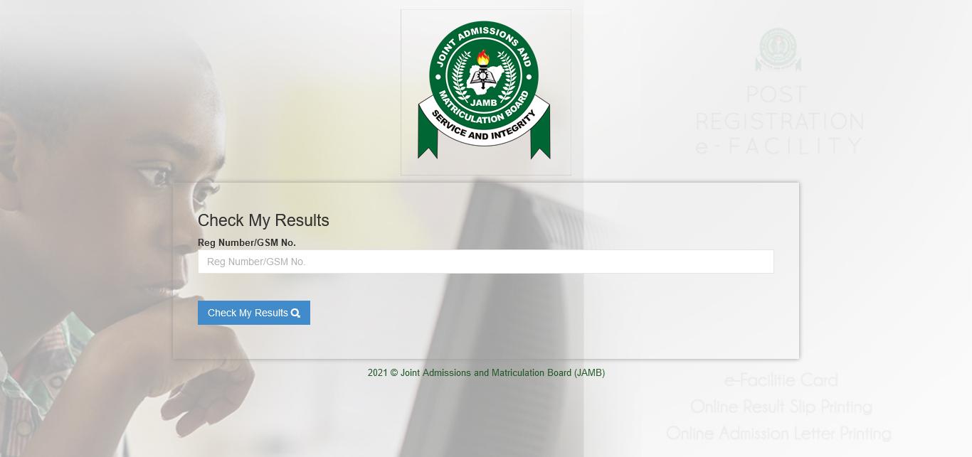 jamb result checker portal login